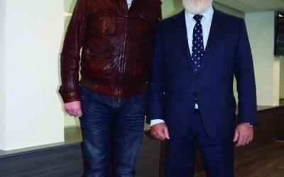Pedro Gómez con el ministro Arias Cañete