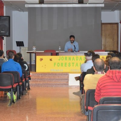 Raúl Guillarón realizando la ponencia