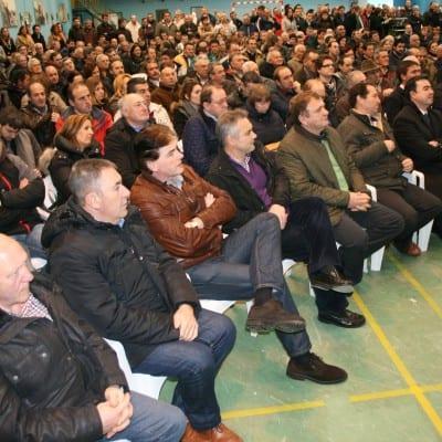 Integrantes de ASAJA Cantabria en la reunión ganadera